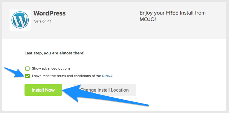 Install WordPress Via Bluehost Control Panel