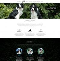 One-Page Dog Breeding Website Template Screenshot
