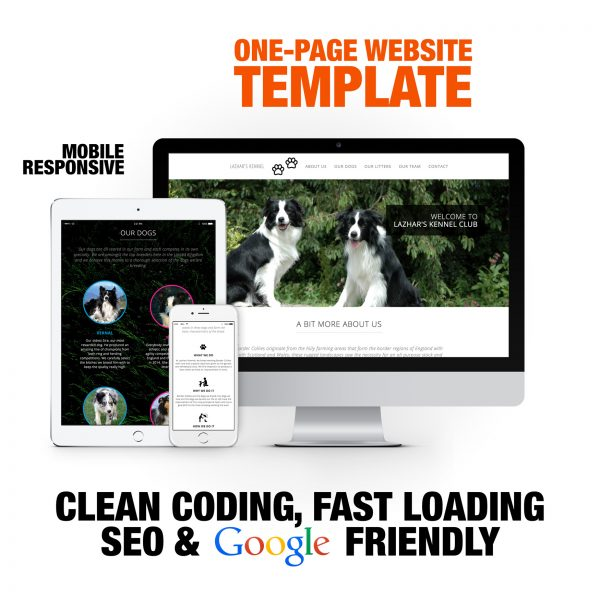 One-Page Dog Breeding Website Template