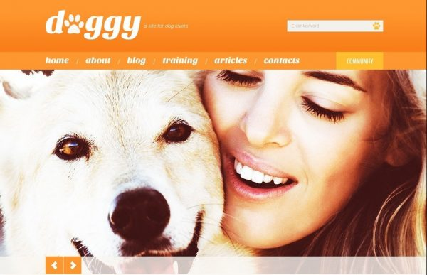 Doggy WordPress Theme by TemplateMonster