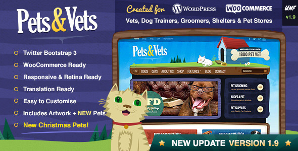 Pets & Vets - WordPress & WooCommerce