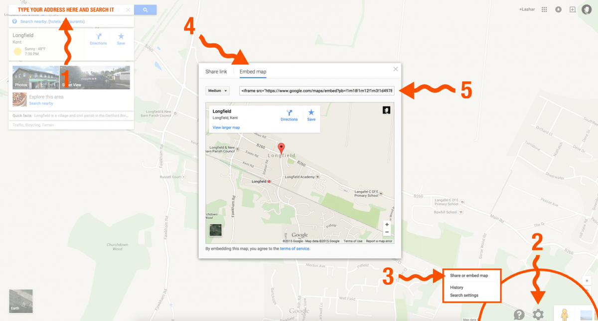Embed Google Maps To Website