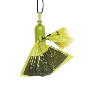 hook Earth Rated Green Dispenser with dog waste poop bags