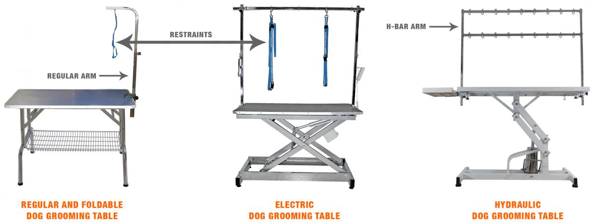 dog grooming table chart