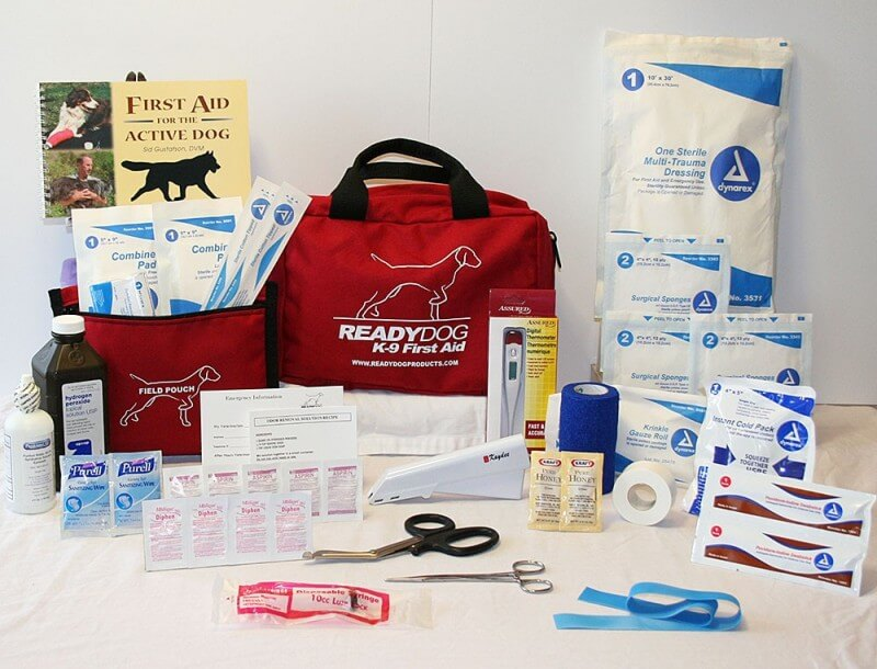 Example first aid kit for dogs
