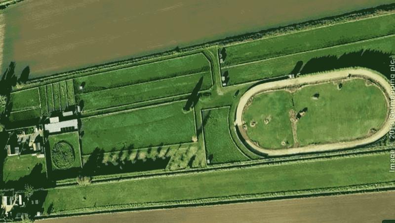 Jim Daly's Greyhound training facilities in Cambridgeshire, England.