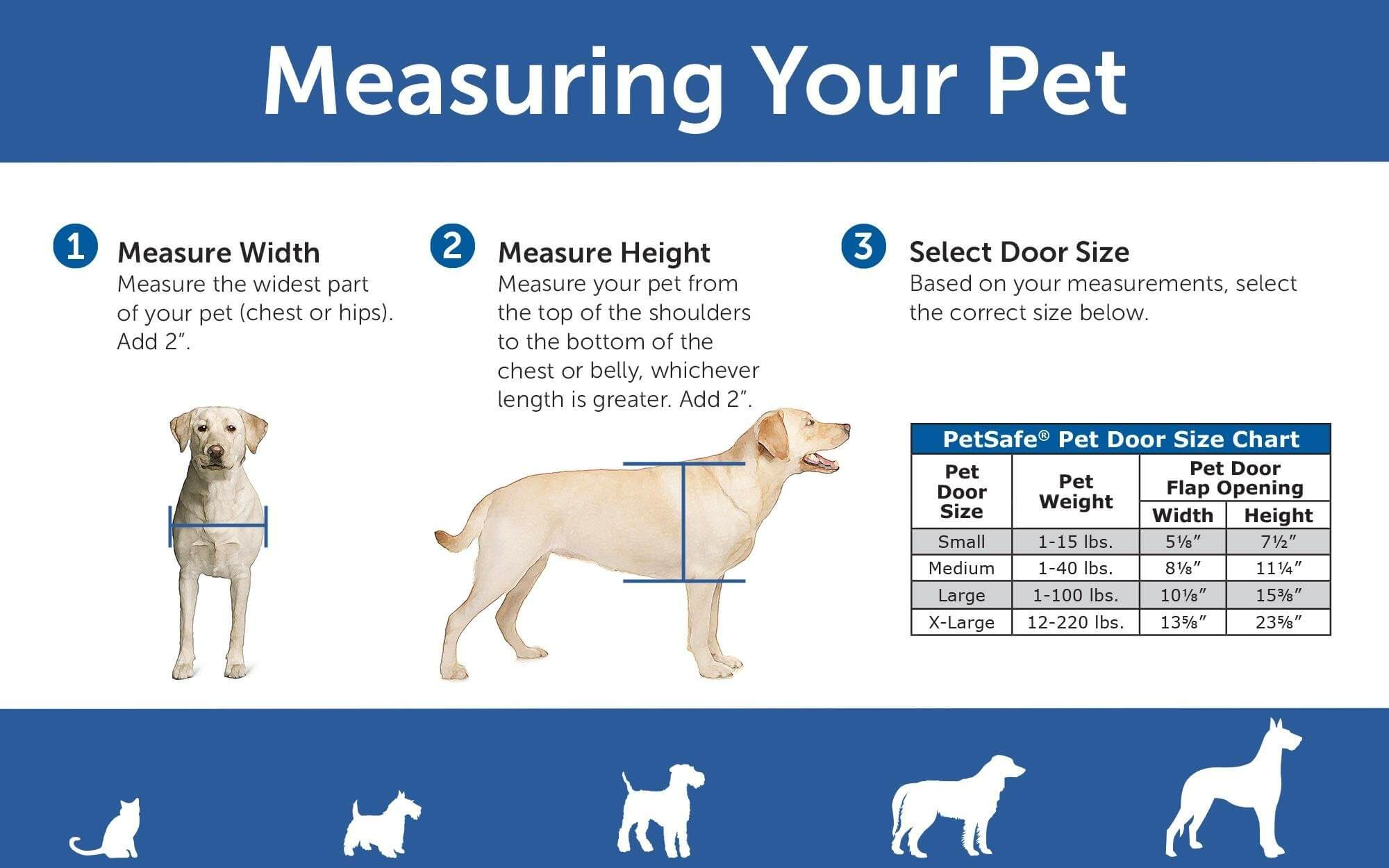 measuring a dog to buy the right dog door