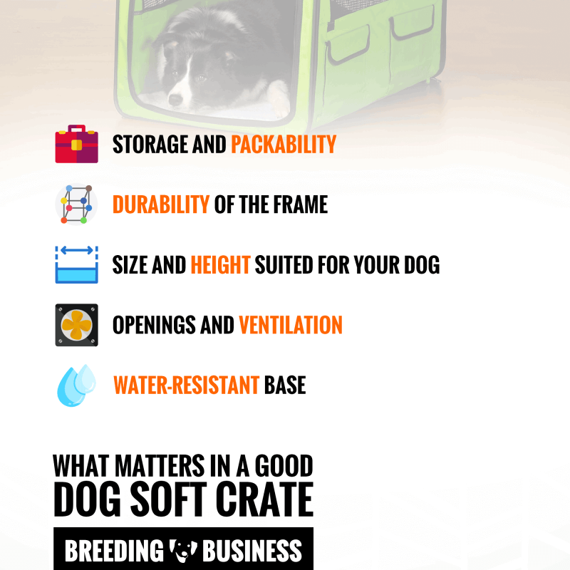 dog soft crate features