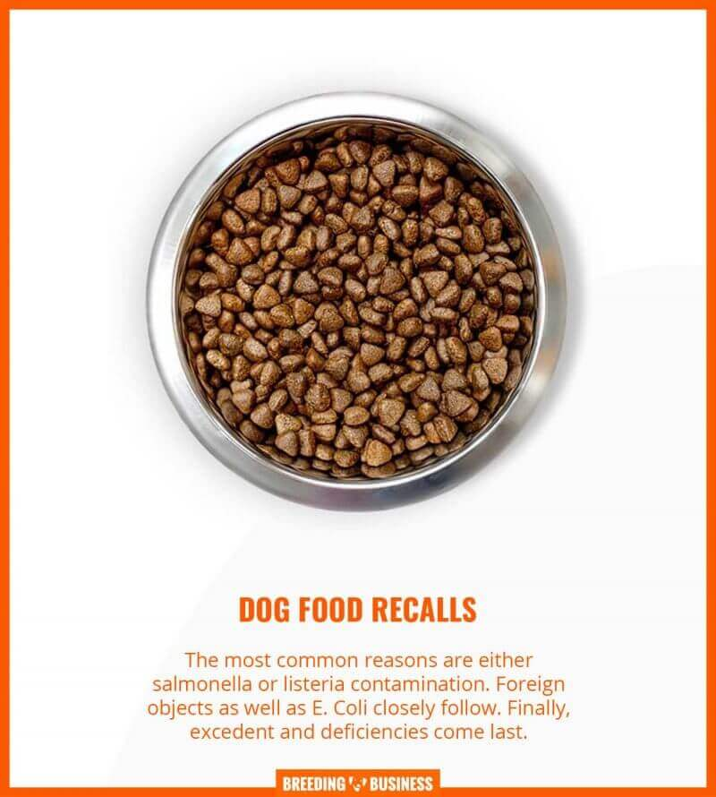 reasons why dog foods get recalled