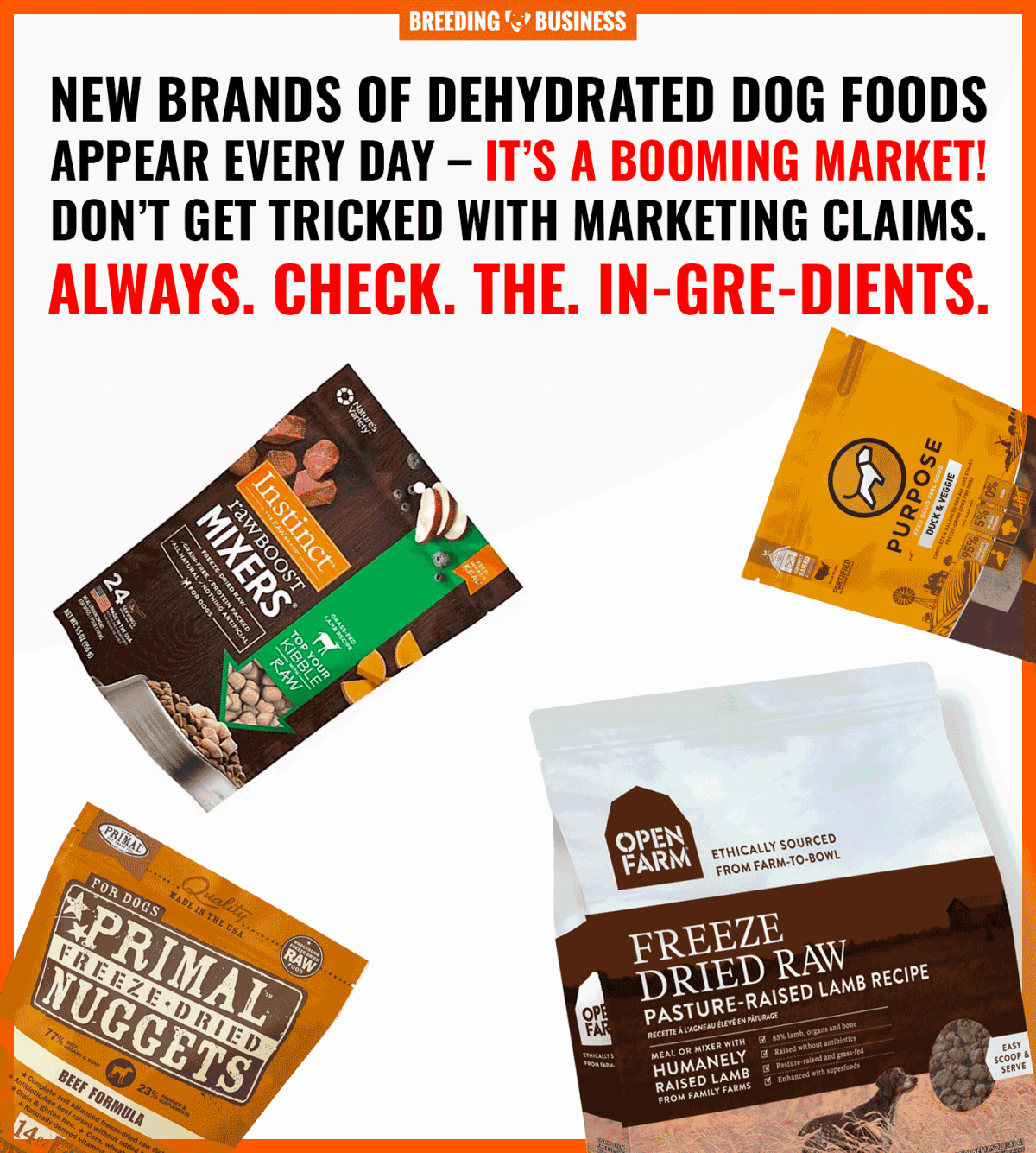 dehydrated dog food brands